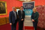 Suzanne Webb MP with Secretary of State for Education, Gavin Williamson, and Marco Longhi MP at the Skills and Education parliamentary reception.