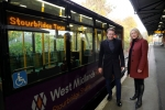 Suzanne Webb with Andy Street at Stourbridge Junction